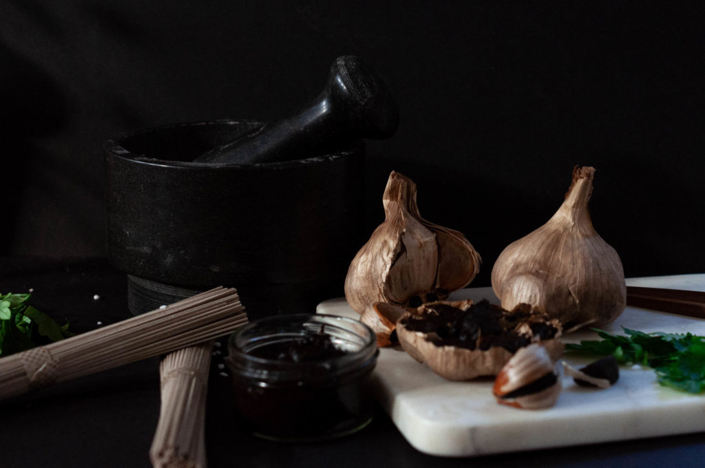Ail noir - Black Garlic - L'étuverie - Recettes, Recipies, Organic Meal - Vegan -