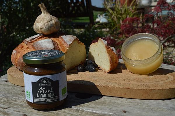 Organic black garlic honey jar